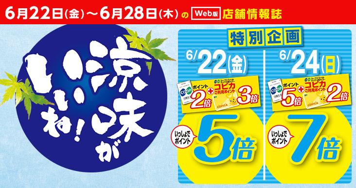 涼味がいいね!:6月22日(金)~6月28日(木)の(web版)店舗情報誌